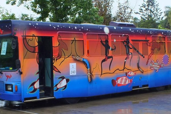 Bus at the Bus Launch