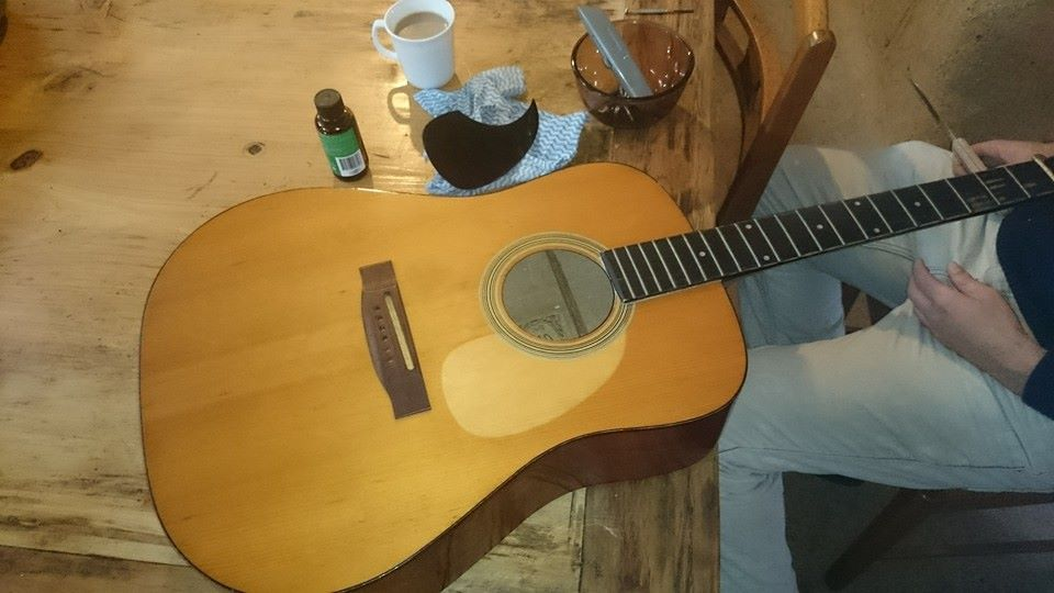Riviera acoustic guitar in progress